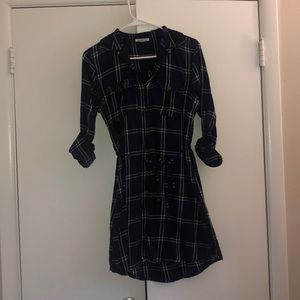 Navy Flannel Dress